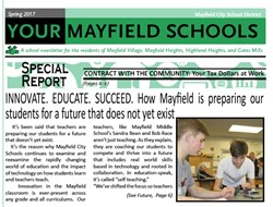 """YOUR MAYFIELD SCHOOLS - Spring 2017 - Special Report """"Contract with the Community"""""""