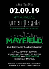 GREEN TIE GALA - SAVE THE DATE:  February 9th is the Mayfield event not to be missed