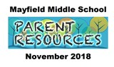 Mayfield Middle School Parent Resources