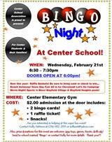 Bingo Night - Wednesday, Feb. 21st