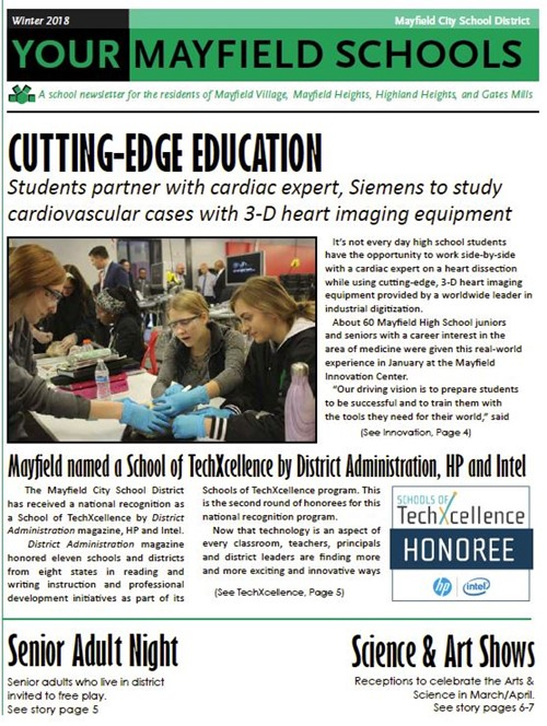 Your Mayfield Schools news Winter 2018