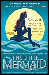 THE LITTLE MERMAID: A cast of 86 students will perform their final weekend  April 20-21-22