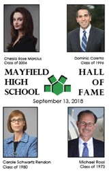 Alumni inductees / Citizens of the Year to be honored Sept 13, 2018 at Hall of Fame / VIP events