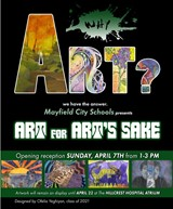 ART FOR ART'S SAKE: Gr. K-12 Art Show opens April 7th with Opening Reception