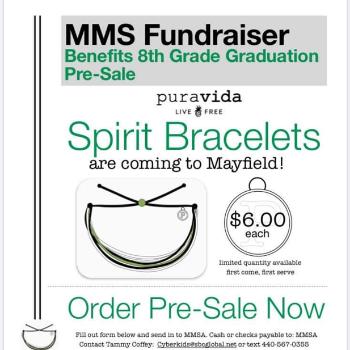MMS Fundraiser Benefits 8th Grade Graduation Pre-Sale