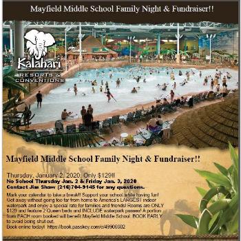 MMS Family Night and Fundraiser at Kalahari