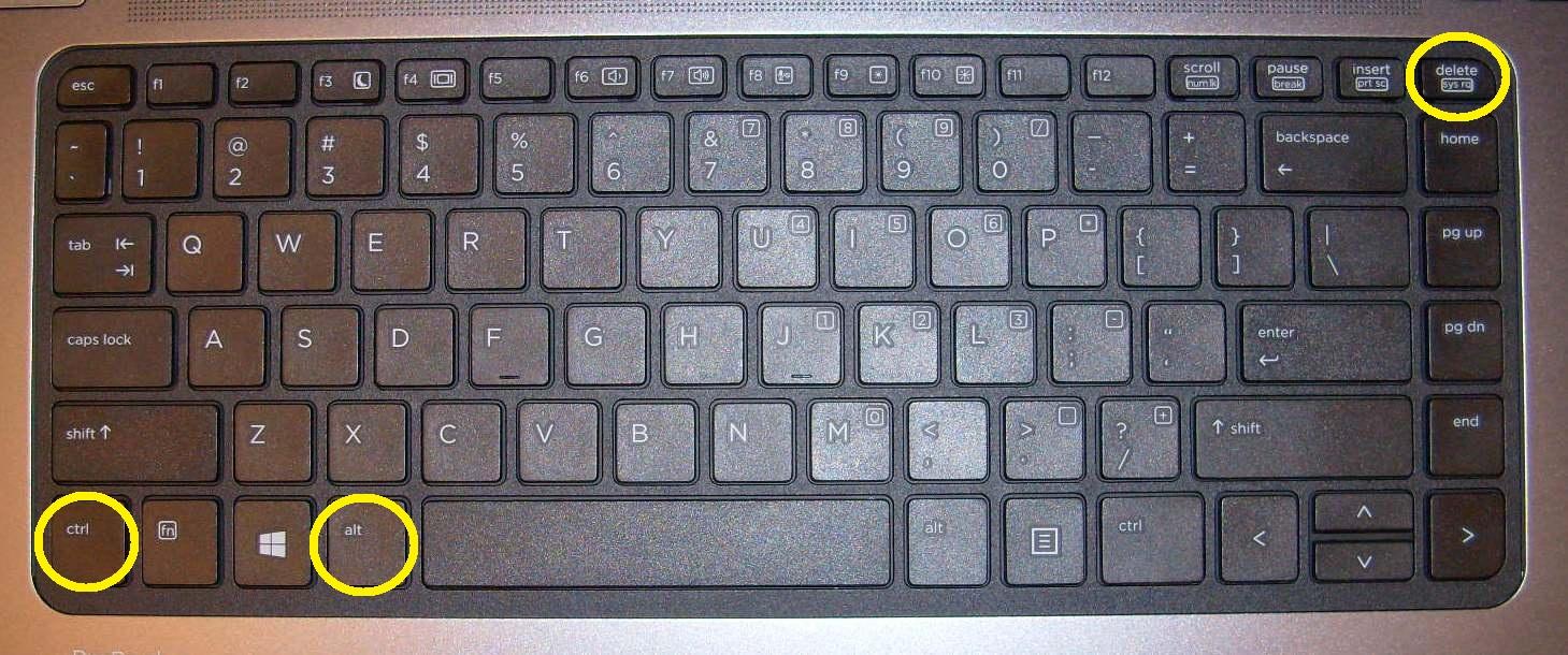 Почему не работает delete ctrl alt