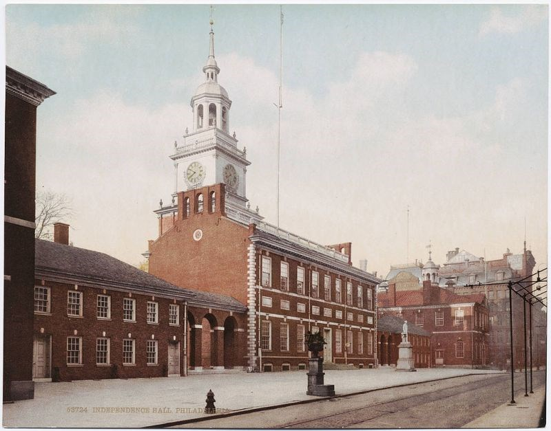 Old Postcard of Independence Hall