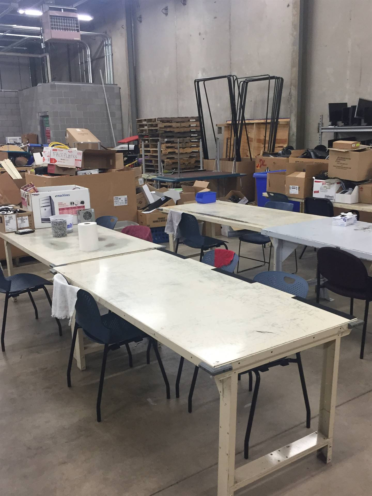 e-waste Work Stations