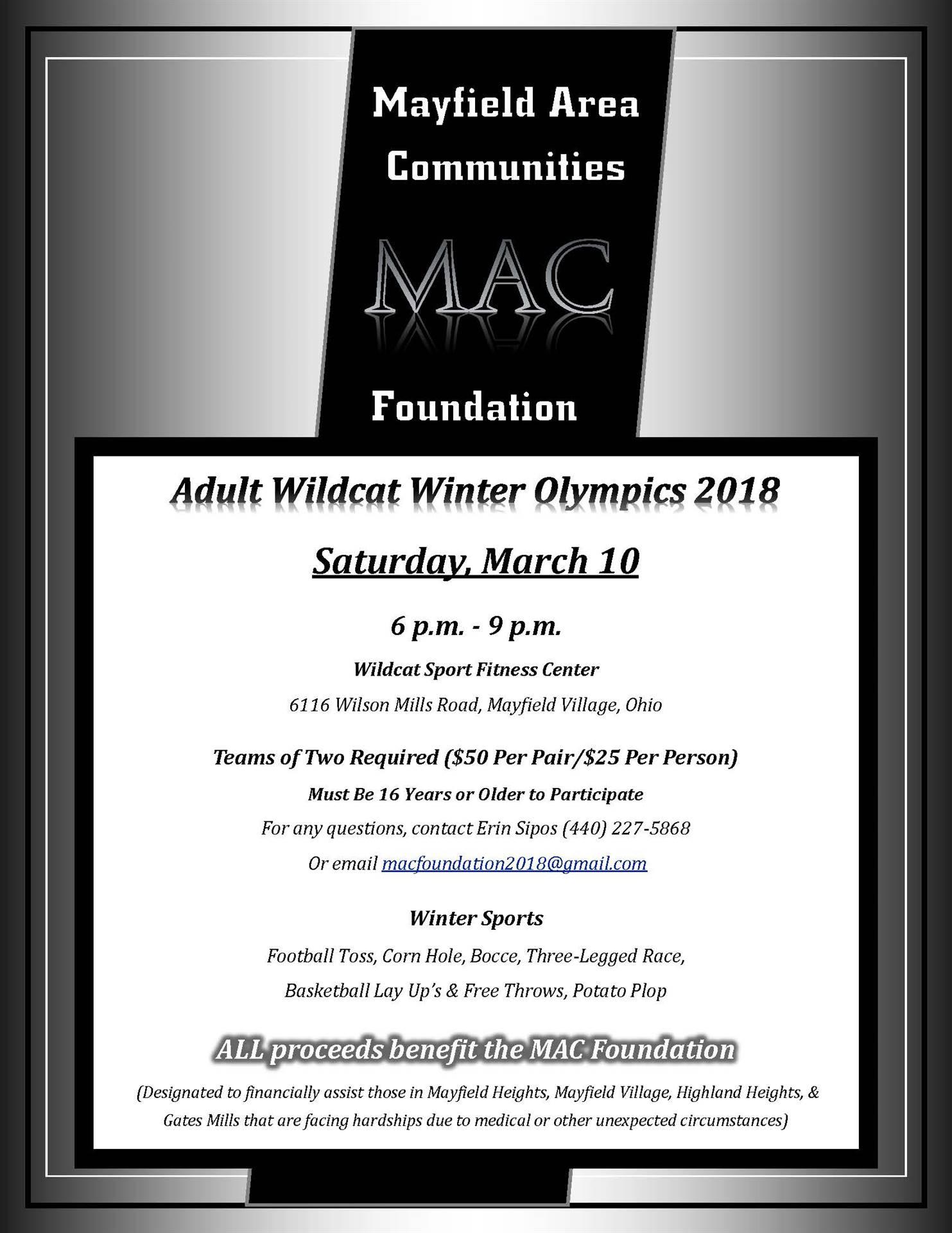 MAc Foundation Winter Olympics