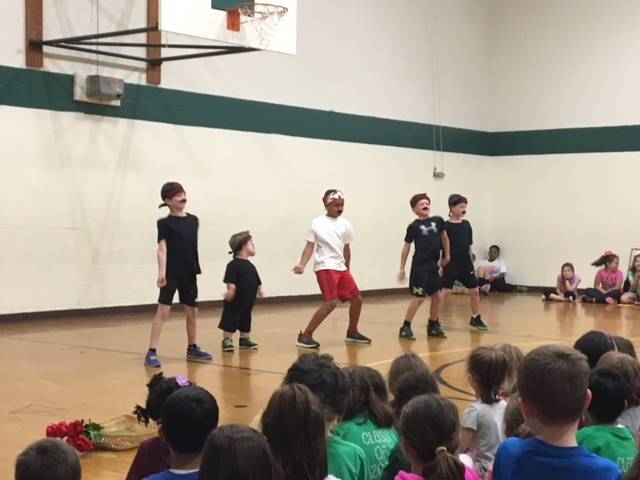talent show-Ben, Manny, Jackson, Nathan, Andrew