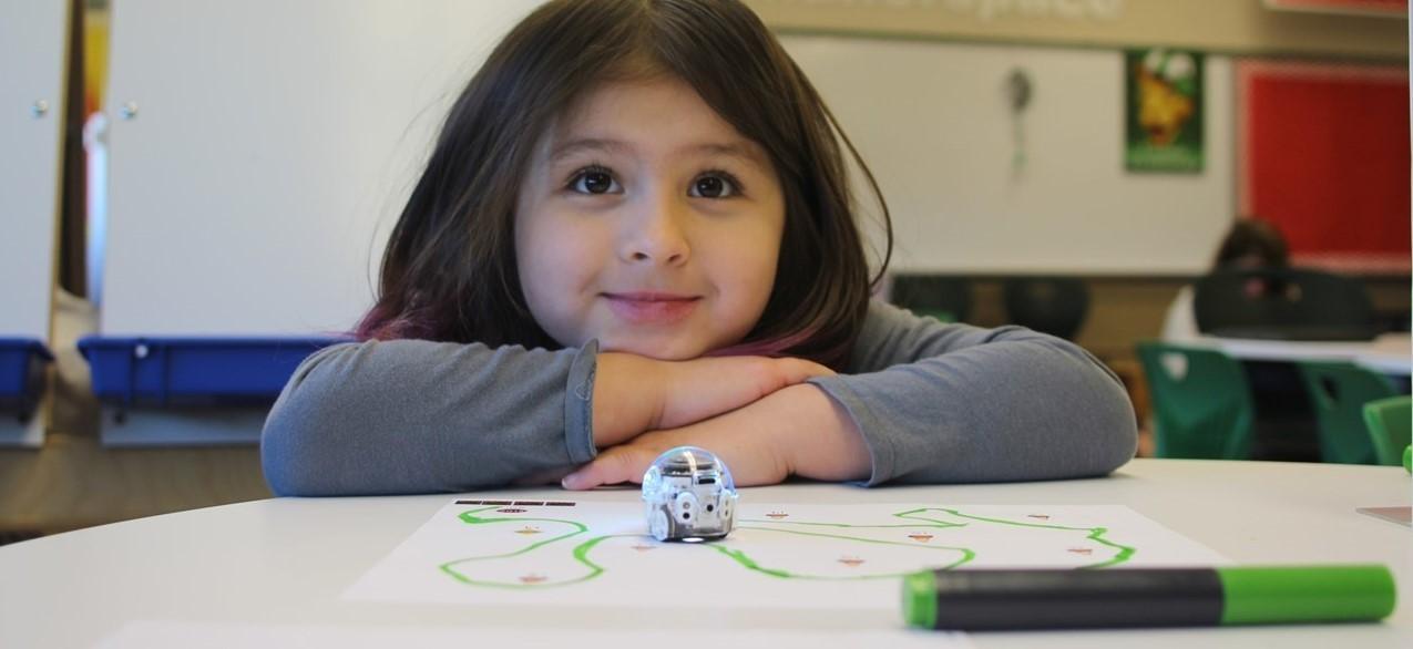 Lander School Maker Space girl