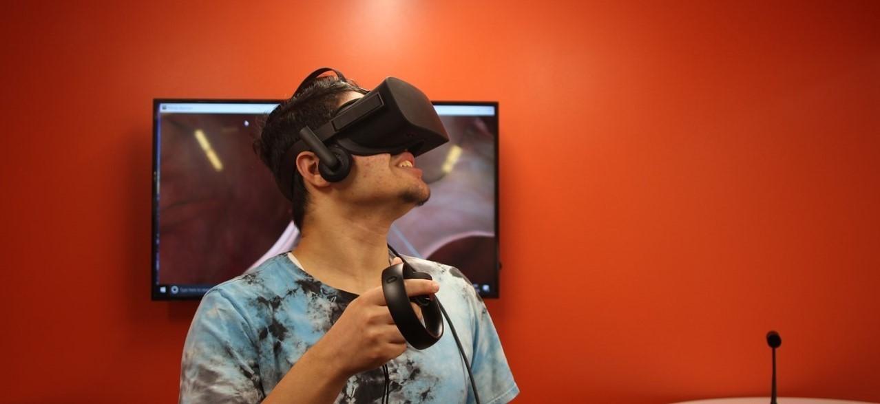 Mayfield Innovation Center virtual reality boy