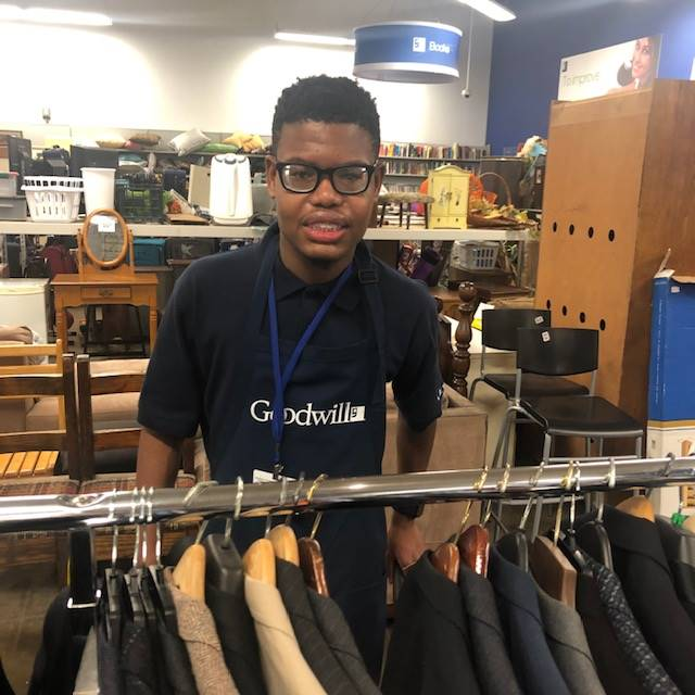 Chayse at Mayfield Goodwill Store
